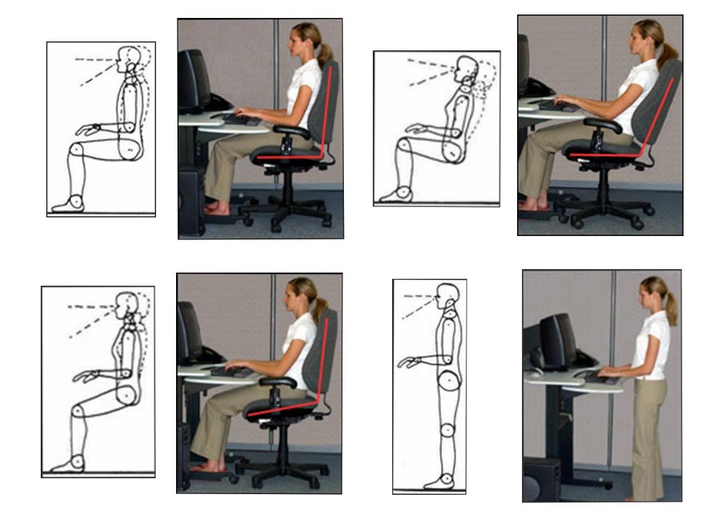 不同参考姿势,右下是站立式