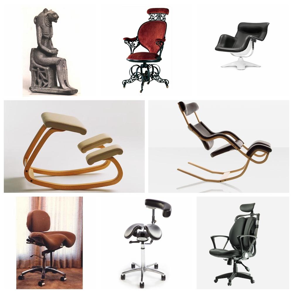 历史上各式号称(有的是后人认为)符合人体工学的座椅
